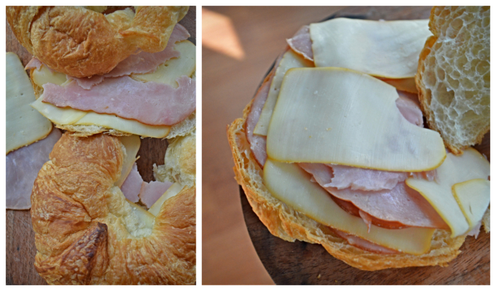 Ham and Cheese Croissant Sandwich with Honey Mustard Glaze