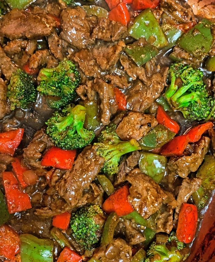 pepper steak and veggies